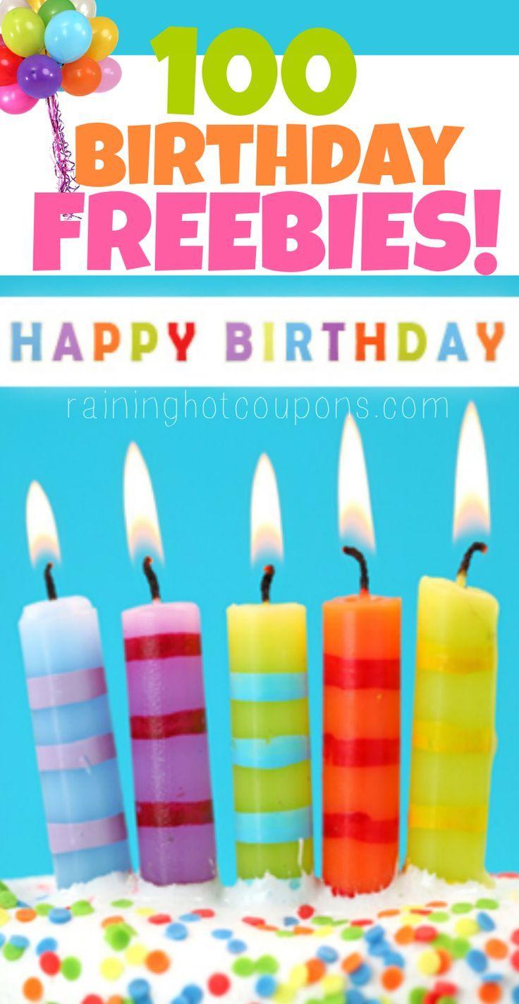Birthday Freebies HUGE List Of Over 100 From Restaurants FREE Starbucks Ice Cream Meals Donuts