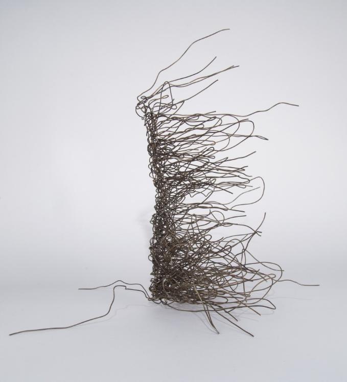 Rosemarie Castoro. Corner Wiper, 1975. Bound stainless steel wire ...