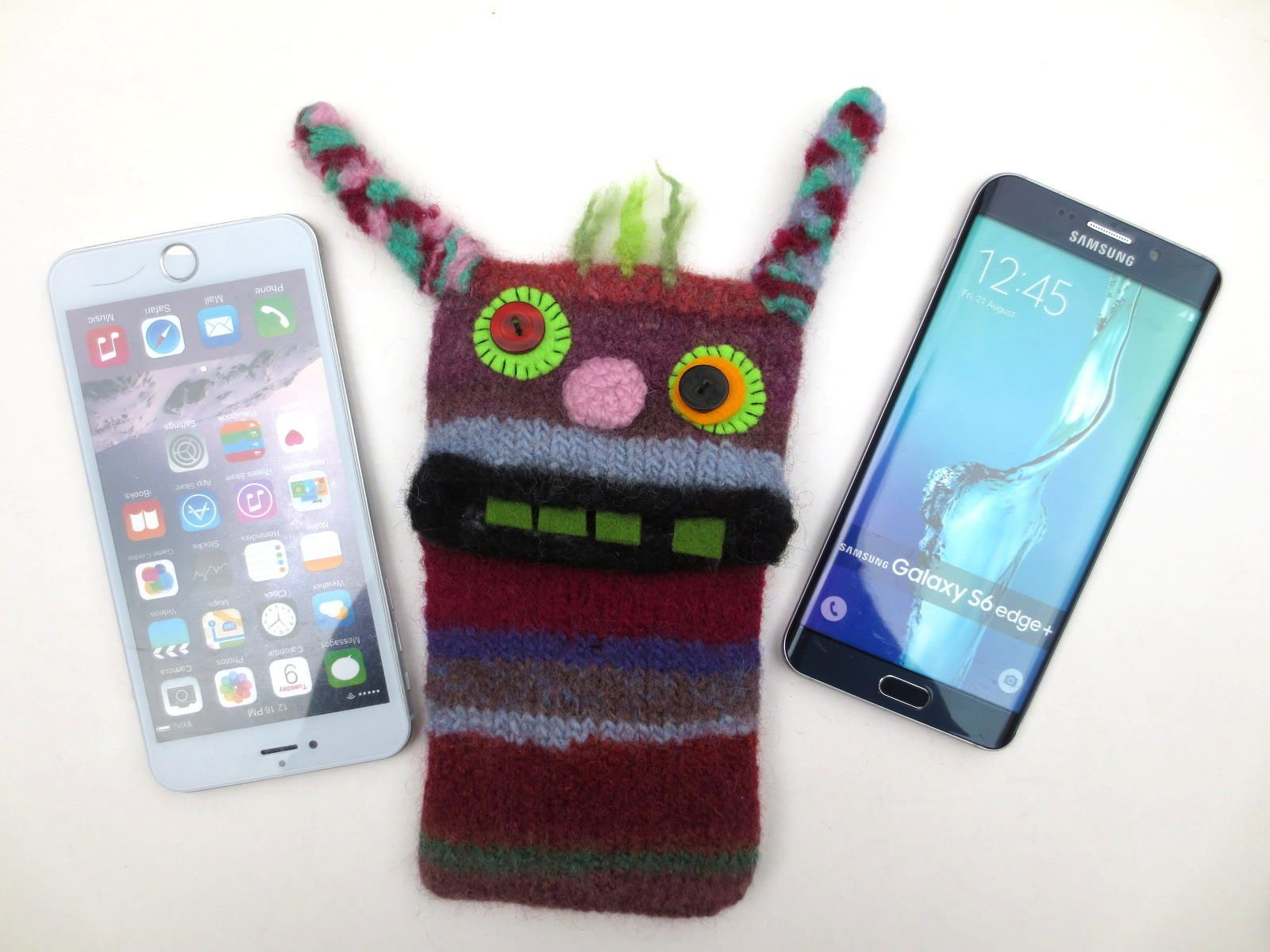 "Smartphone Cover Monster ""Vivien"" gefilzt Handy Tasche Hülle S6 Smartphone CoversGalaxy S7Samsung"