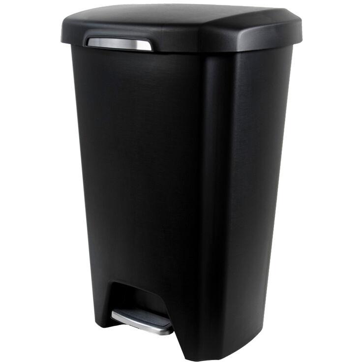 Hefty 12 4 Gal Step On Trash Can Black Trash Can Kitchen Trash Cans Black Kitchens
