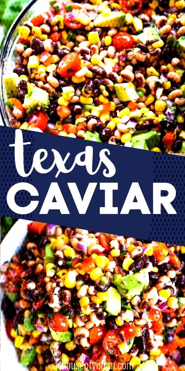 Texas Caviar Texas Caviar. Fresh, zesty, and flavorful, this dish is loaded with black eyed peas, b