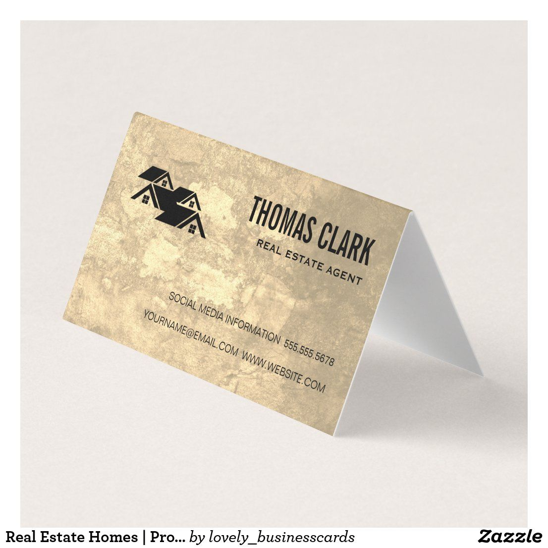 Real Estate Homes Professional Lux Business Card Zazzle Com In 2021 Luxe Business Cards Real Estate Business Cards Real Estate