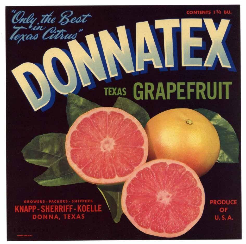 Double D Texas Citrus Label Donna Texas Full Size
