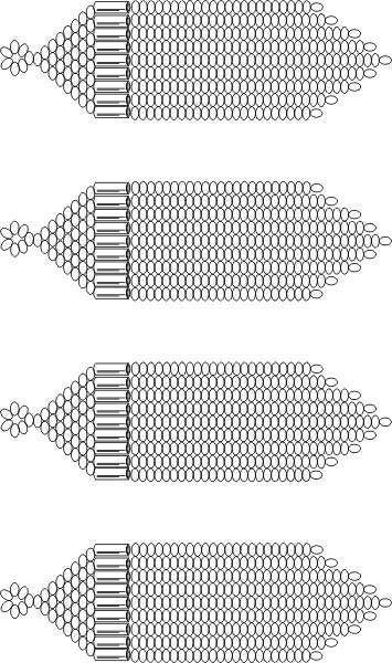 Free Bead Patterns Blank Fringe Earring Pattern By Unique Beaded