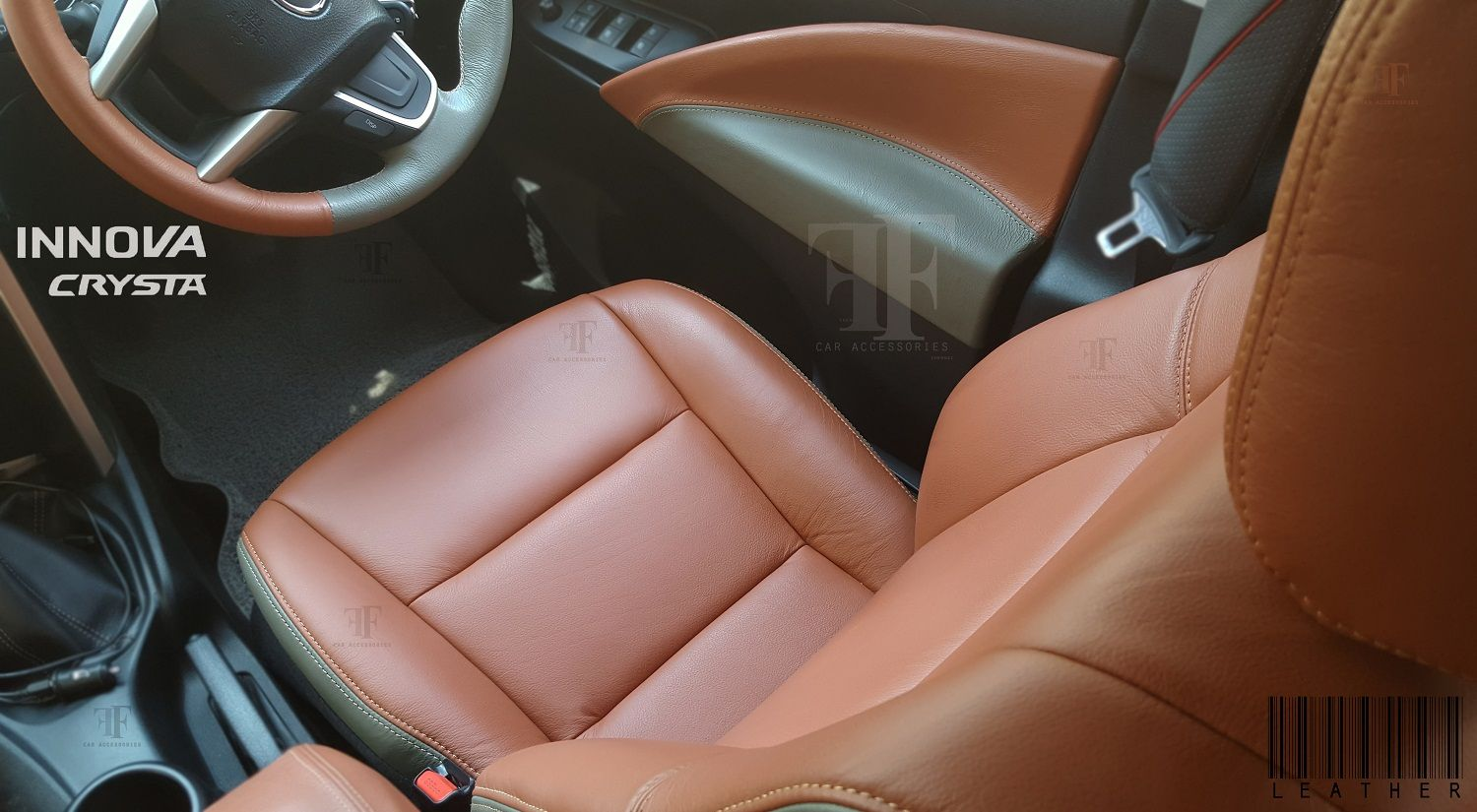 0152a442a2d Radiant   Grey leather material used for this Toyota Innova Crysta ...