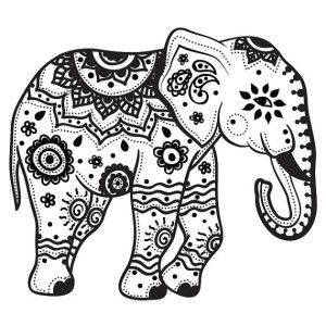 Indian Tribal Coloring Pages. Elephant Coloring Pages For Adults To Print  Tribal ElephantIndian Henna ideas