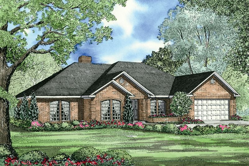Traditional Style House Plan - 4 Beds 2.5 Baths 2107 Sq/Ft Plan #17-146 Exterior - Front Elevation - Houseplans.com