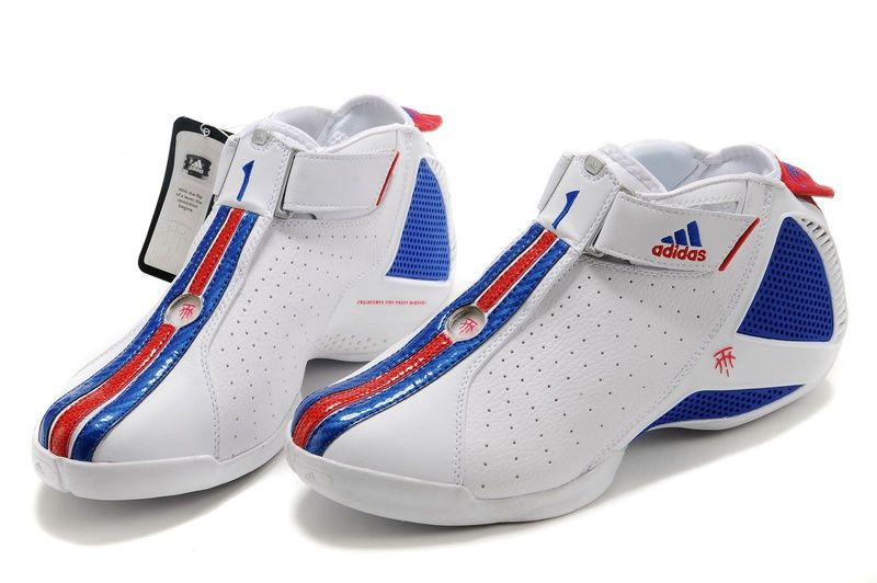 outlet store 1f864 666da Adidas T Mac 4(IV) Tracy McGrady Shoes White Blue Zapatillas De Baloncesto