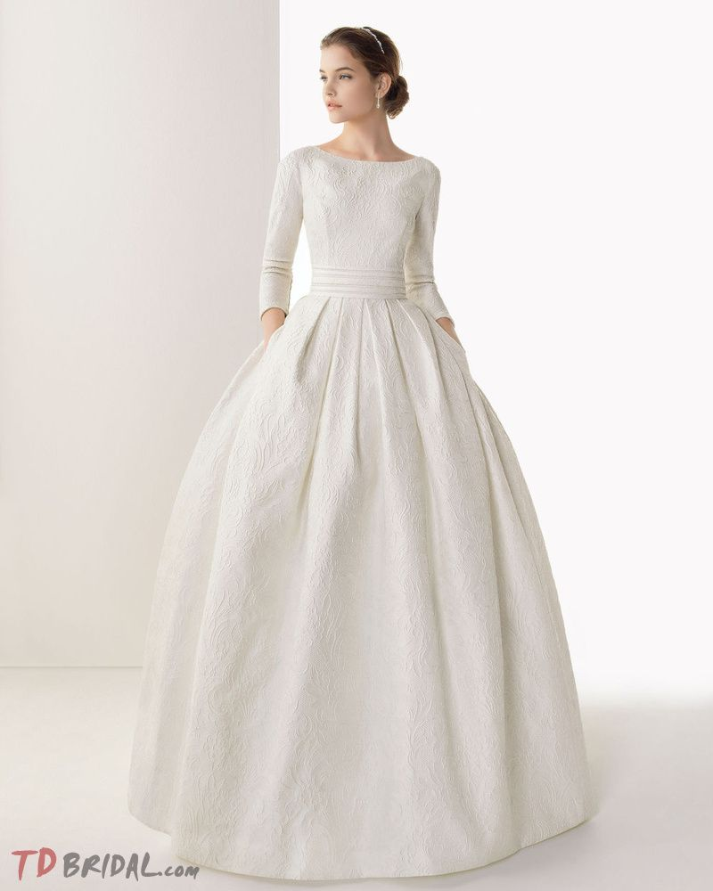 Buy adble ball gown with long sleeves lace court train wedding