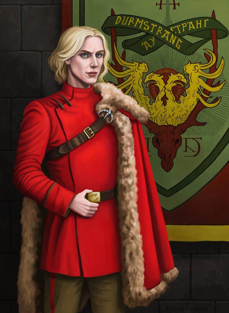Gellert Grindelwald At Durmstrang By Domerk Harry Potter Outfits Grindelwald Harry Potter Anime Los estudiantes llevan túnicas de color rojo sangre y capas de piel. gellert grindelwald at durmstrang by