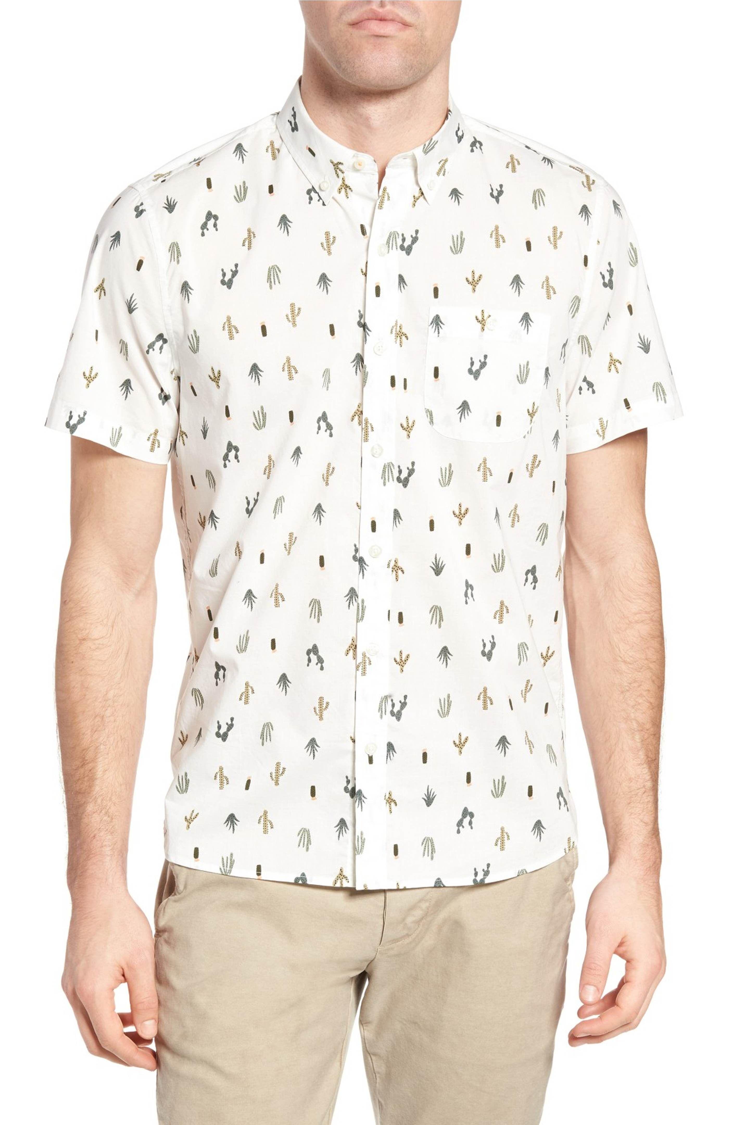 Michael Bastian Cactus Print Sport Shirt Sports shirts