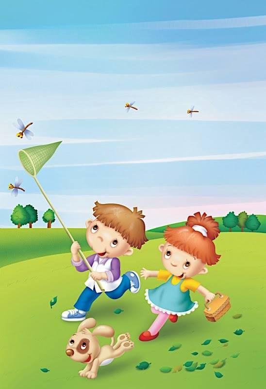 Картинки прогулки детей летом