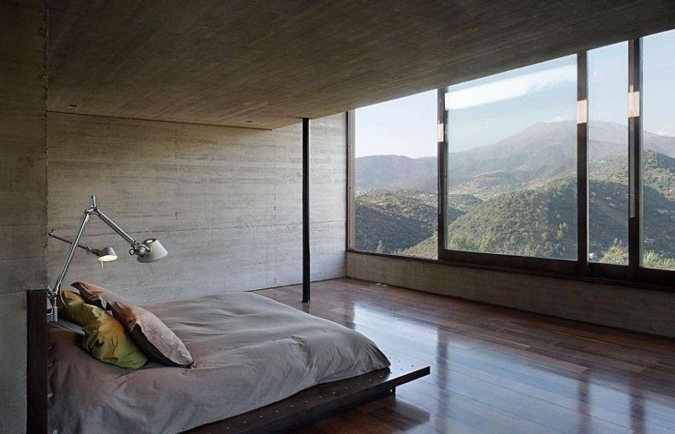 Home Design Master Bedroom With Sliding Windows Large Glass