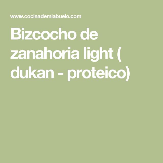 Bizcocho de zanahoria light ( dukan - proteico)