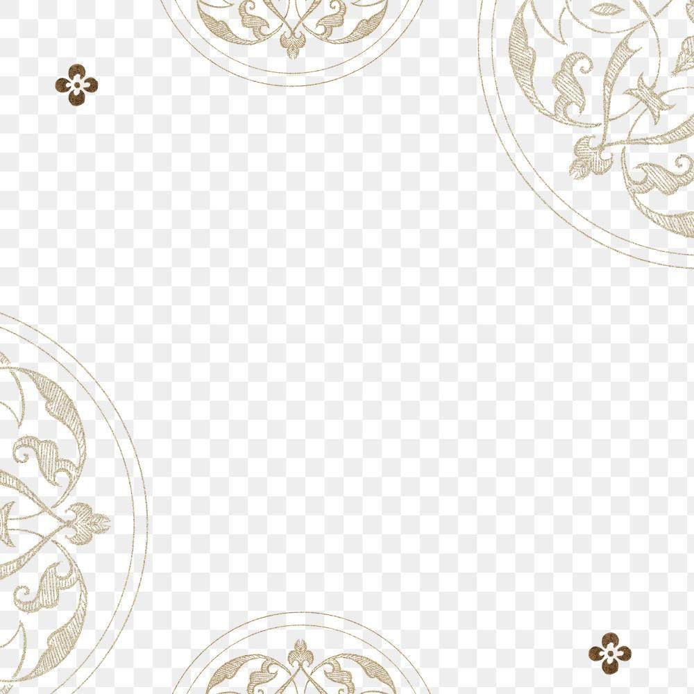 Beige Filigree Frame Border Png Free Image By Rawpixel Com Wan Flower Illustration Vintage Illustration Frame Design