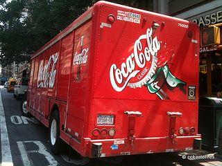 Coca-Cola delivery truck on 8th Avenue in Manhattan