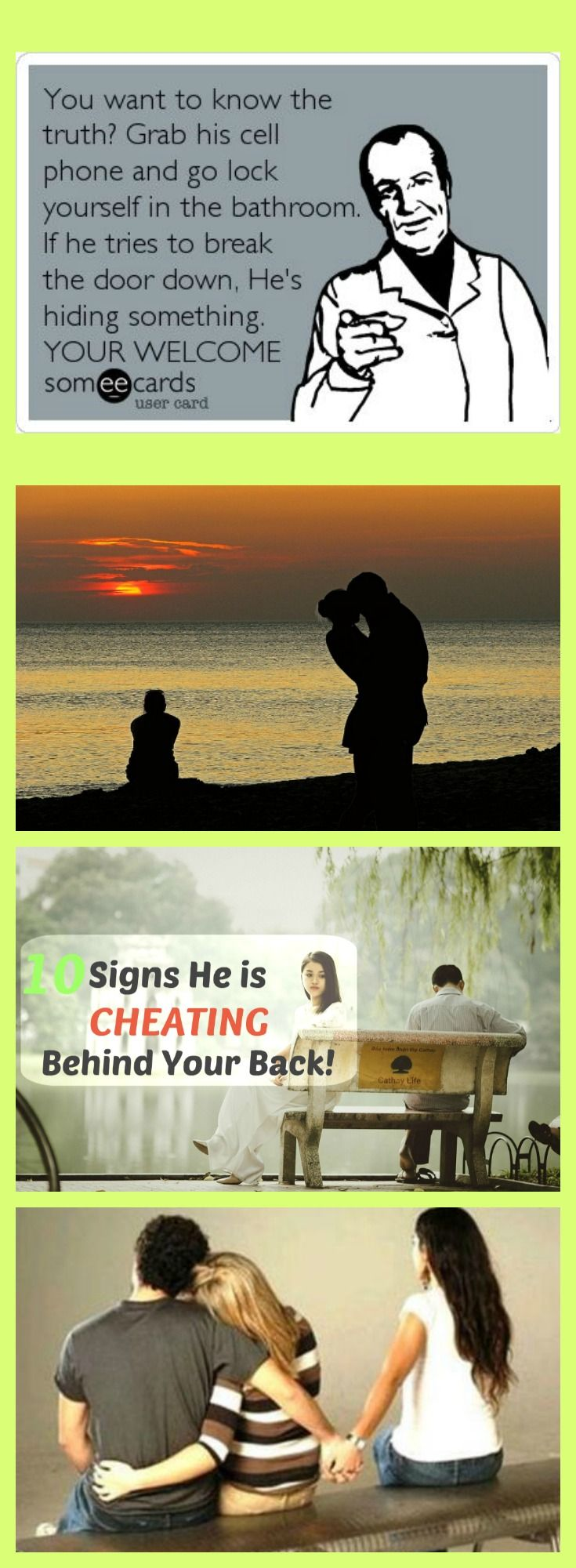 signs he is hiding something