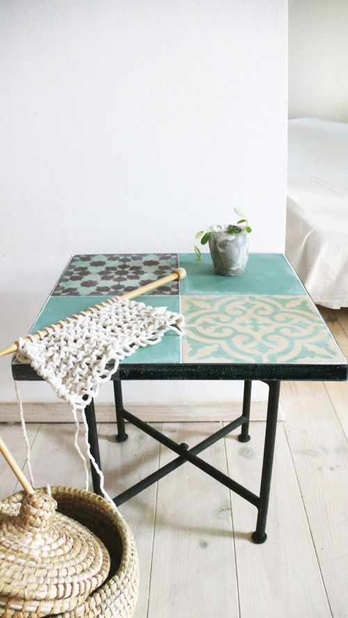 The Moroccan Tile Tables Are Small Side Tables In A Iron Frame With Inlaid  Cement Tiles. With Folding Legs Iron..: Size: 40cm X 40cm // 15,8in X  15,8in.