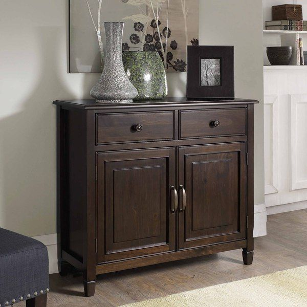 Wyndenhall Hampshire Dark Chesnut Brown Entryway Storage Cabinet