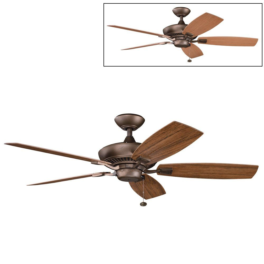 Kichler lighting 310192 canfield patio ceiling fan atg stores kichler lighting 310192 canfield patio ceiling fan atg stores aloadofball Images