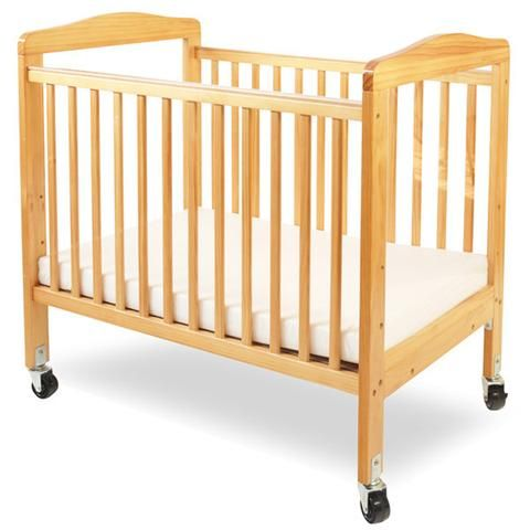 L.A. Baby Mini/Portable Non Folding Wooden Window Crib