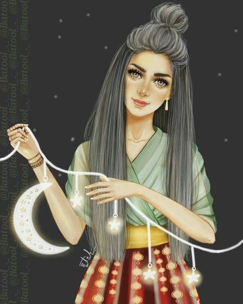 رمضان كريم Cartoon Girl Images Girls Cartoon Art Iphone Wallpaper Girly