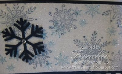 Stamp & Scrap with Frenchie: Dryer Sheet Glitter with Serene Snowflkes