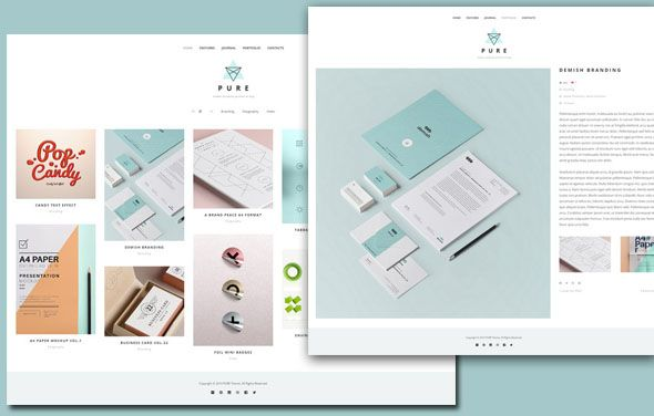 Pure free portfolio wordpress theme design web app pure free portfolio wordpress theme maxwellsz
