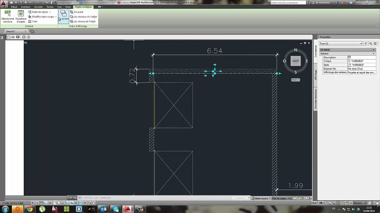 Dessin d'une maison avec Autocad Architecture tuto débutant | Part 2