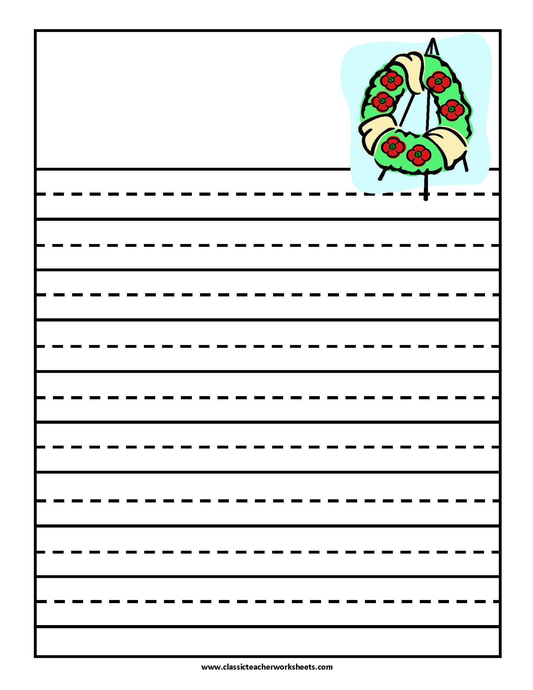 Writing Paper Remembrance Day Check Out Our Website Classicteacherworksheets For Our