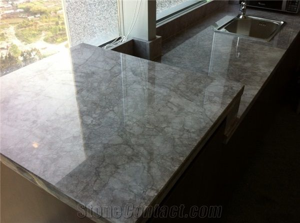 China Grey Violet Marble Countertop Stonecontact