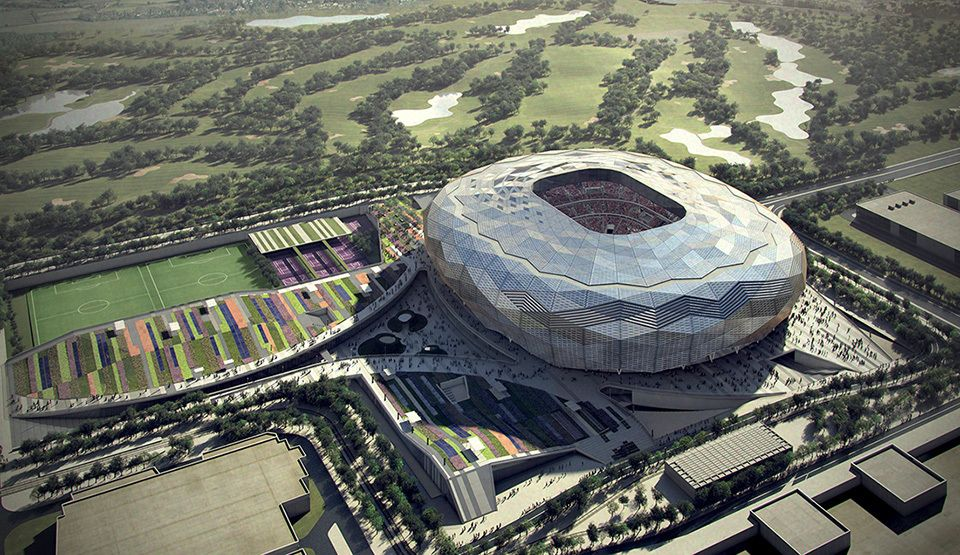 Zaha Hadid Unveils Design For Qatar 2022 World Cup Stadium Article Includes Video Showing The Design Zaha Hadid Architecture Zaha Hadid Zaha Hadid Design