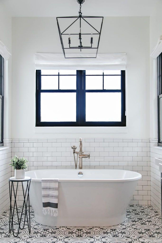 67 Incredible Modern Farmhouse Bathroom Tile Ideas