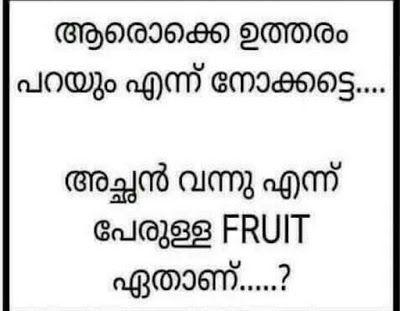 Achan Vannu Ennu Perulla Fruit Ethanu #Puzzle #BrainTeaser