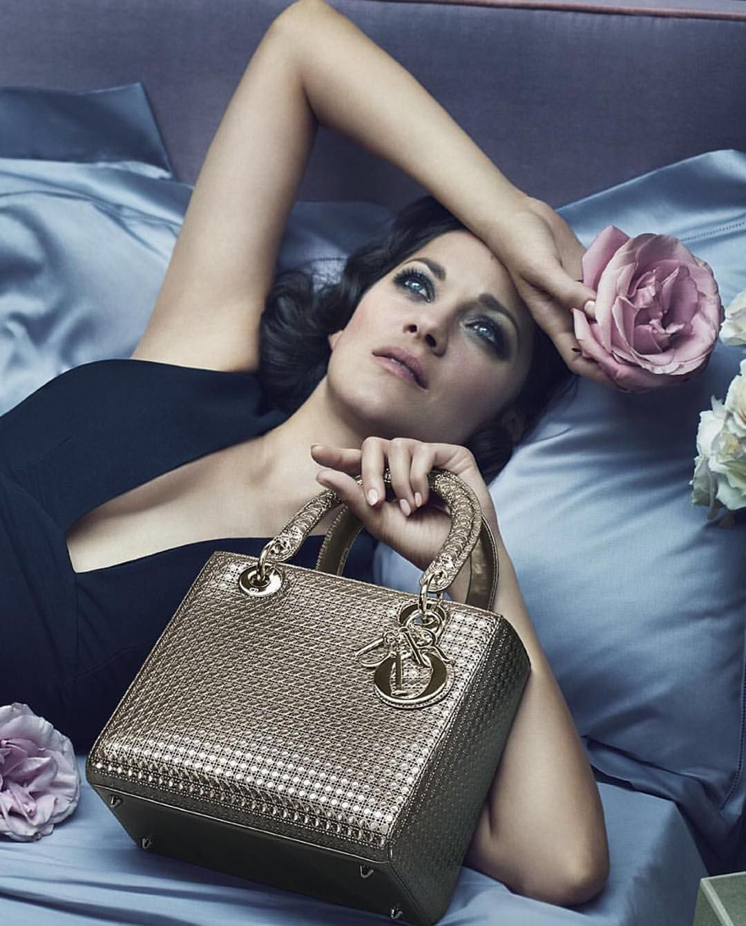 "Harper's BAZAAR Singapore on Instagram: ""Sultry screen siren Marion Cotillard returns as the face of @Dior's 'Lady Dior' campaign, lenses by photographer duo @mertalas and @macpiggott!  #HarpersBazaarSG #itDior"""
