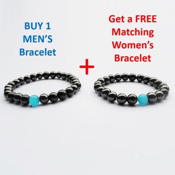 Black Hematite Men's HEALTH & Energy Bracelet