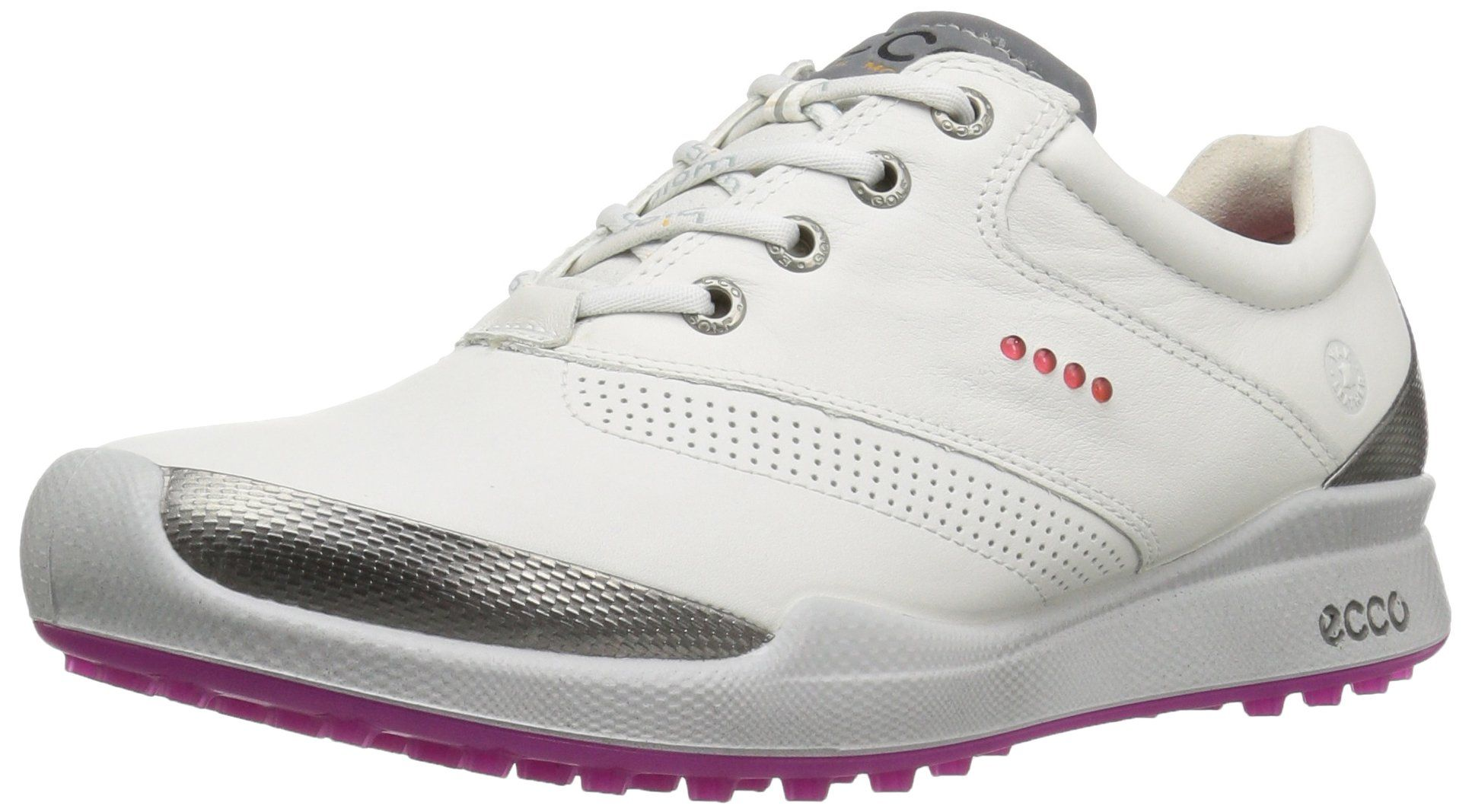 ECCO Women's Biom Hybrid Hydromax Golf Shoe, White/Candy, 39 EU/8