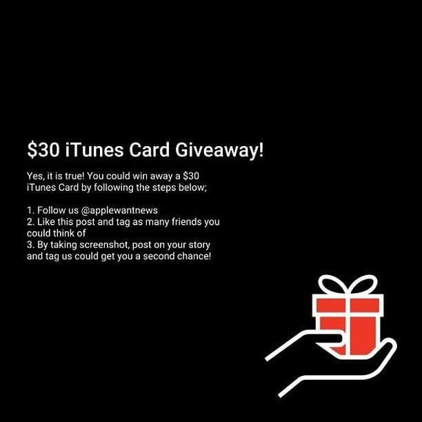 You Could Win A 30 Itunes Gift Card By Following The Steps Below 1 Follow Us Applewantnews 2 Like This Posts On Our Page 3 Tag Many F Pinterest