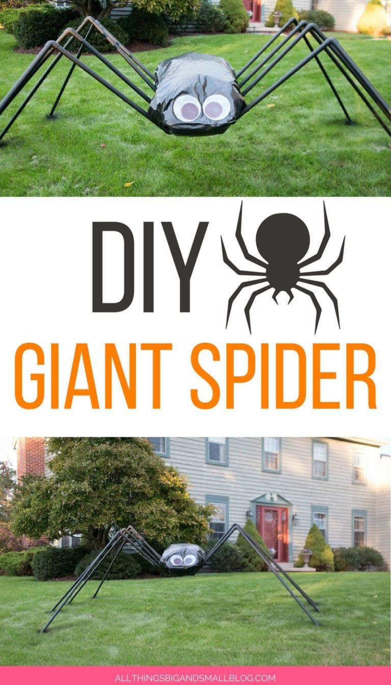 Love This Diy Giant Spider Decoration For Halloween Decorating