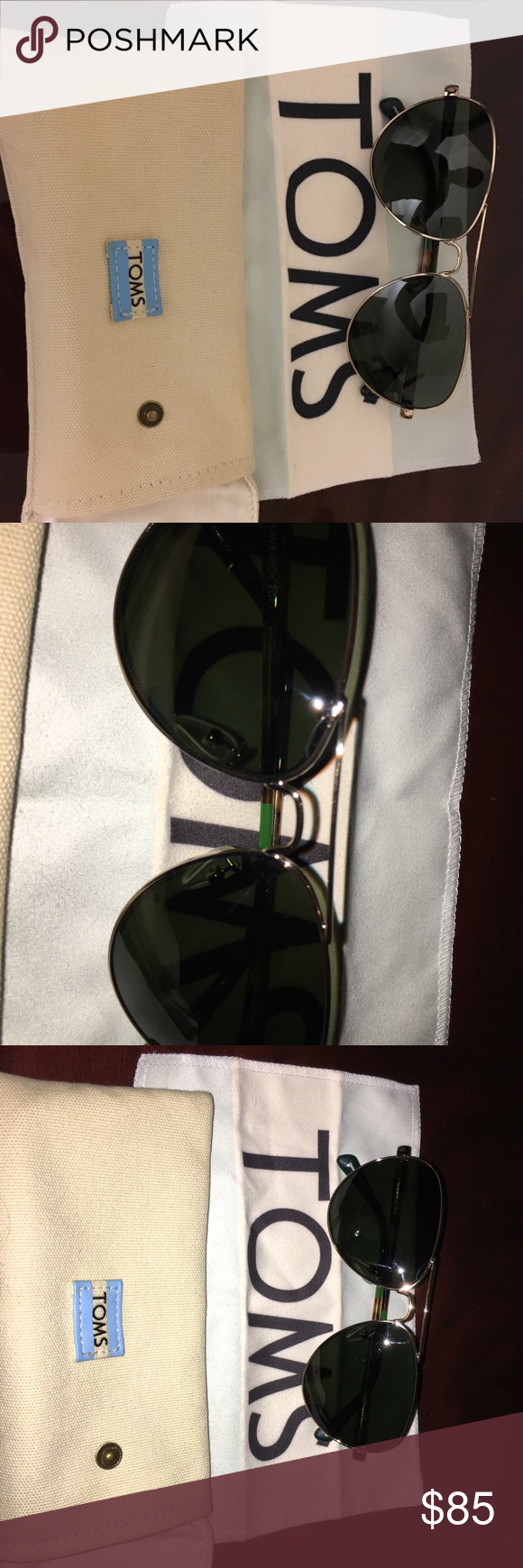 6d7ac290b4f Toms Aviators Carpe Diem Brand new and in excellent condition. No  scratches. Authentic Toms Sunglasses. Toms Accessories Glasses