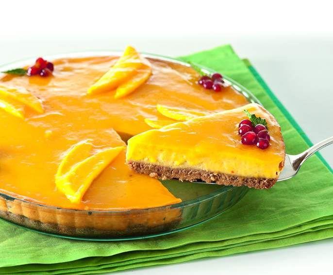 receta cheesecake de mango por thermomix magazine receta. Black Bedroom Furniture Sets. Home Design Ideas