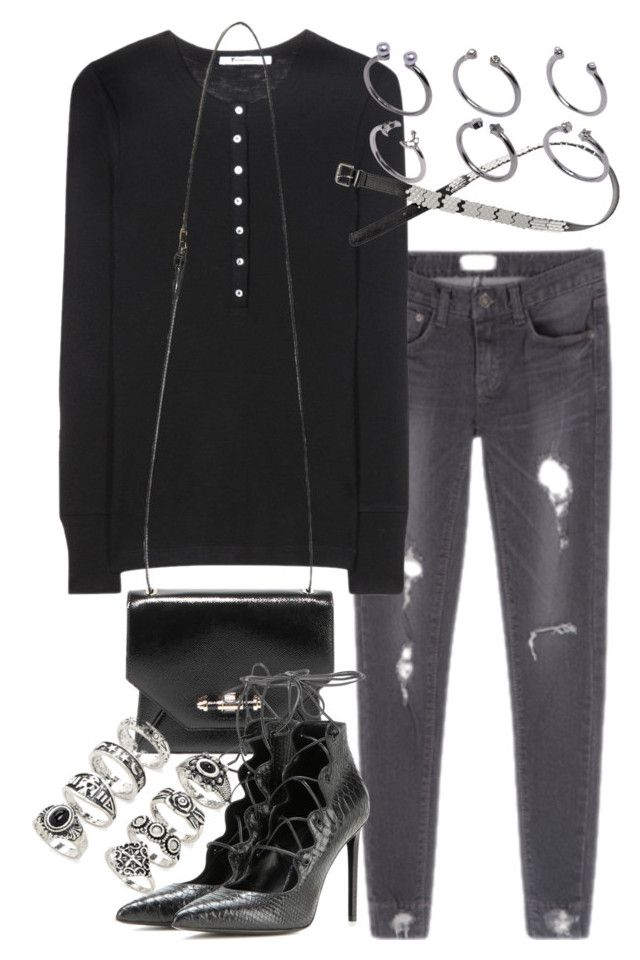 """""""Untitled #1975"""" by mariie00h ❤ liked on Polyvore featuring T By Alexander Wang, Givenchy, Yves Saint Laurent, Forever 21, H&M, ASOS and Inspired"""
