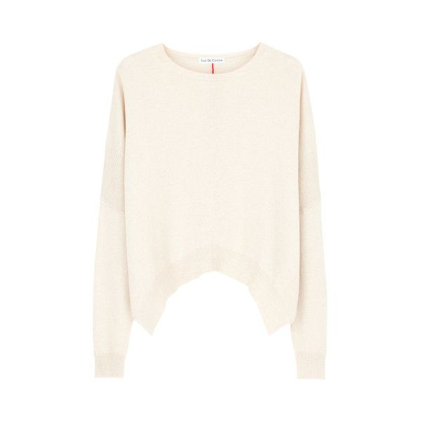 S Cropped Sweater Latte Fire Red ($155) ❤ liked on Polyvore ...