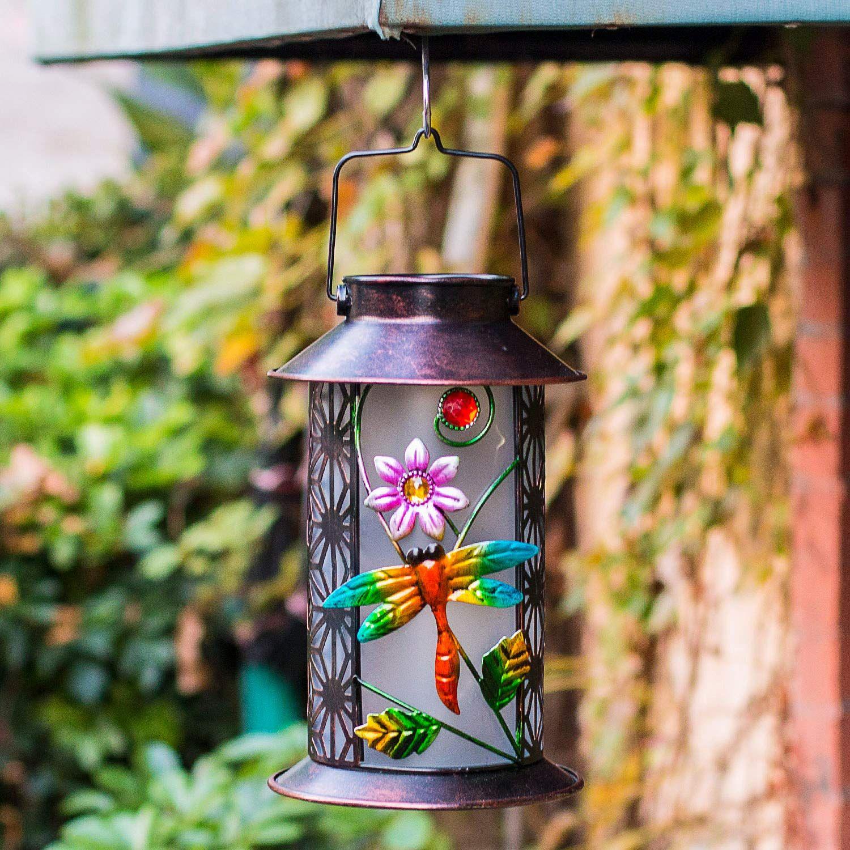 BOAER Garden Solar Lantern Lights Outdoor Hanging