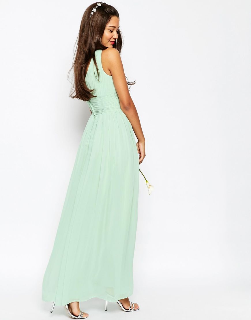 ASOS WEDDING Ruched Panel Maxi Dress | Clothes & Accessories | Pinterest
