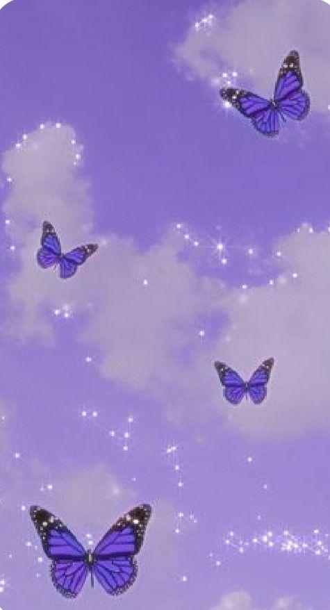 Purple Butterfly Wallpaper Aesthetic : purple, butterfly, wallpaper, aesthetic, Please, Follow💜, Butterfly, Wallpaper, Iphone,, Purple
