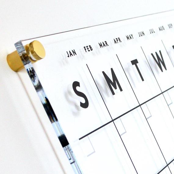 PREMIUM Acrylic Calendar With Side Notes