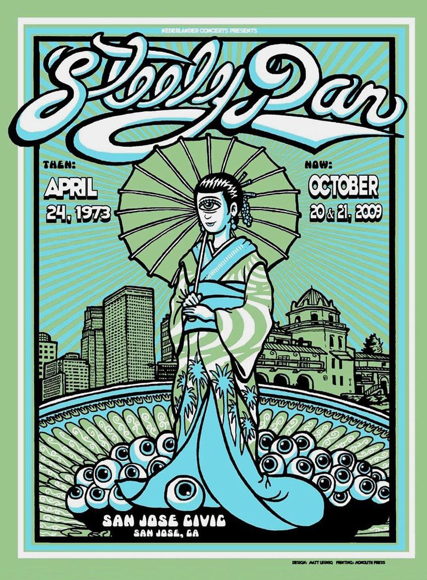 Steely Dan 1973 San Jose in 2020 Concert poster design