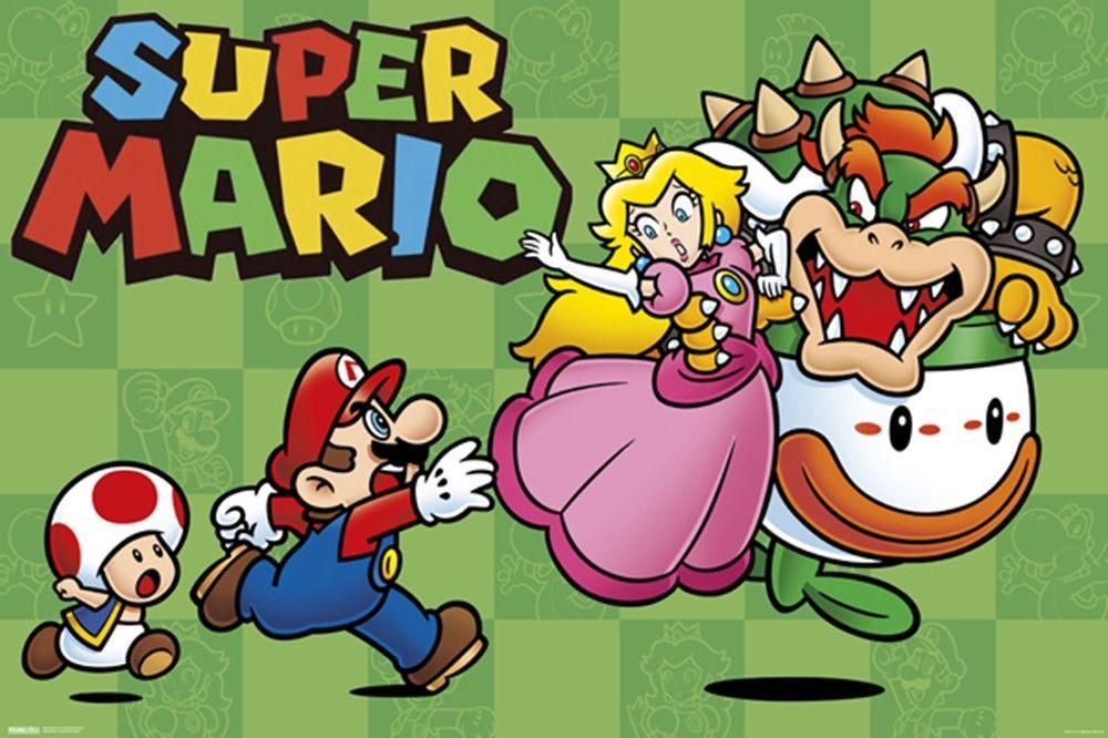 Super Mario Chase Gaming Poster Mario Art Mario Super Mario