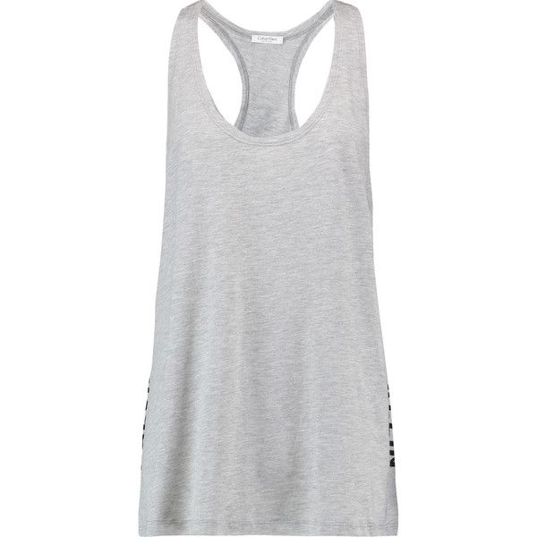 Calvin Klein Woman Printed Cotton And Modal-blend Jersey Tank Gray Size M Calvin Klein Many Styles Best Price Discount Fake jA9gXmLK